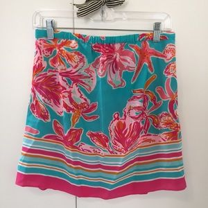 LILLY PULITZER STRAPLESS SILK TOP